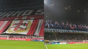 Milan-Inter, ecco le coreografie del derby di Coppa Italia