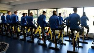Spalletti striglia l'Inter: tutti a pedalare