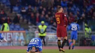 Serie A, Dzeko e Schick a secco: la Roma frena all'Olimpico