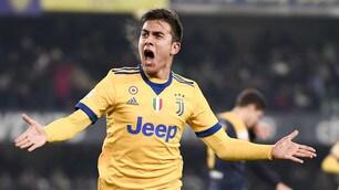 Dybala fa il fenomeno, che doppietta: la Juventus stende il Verona
