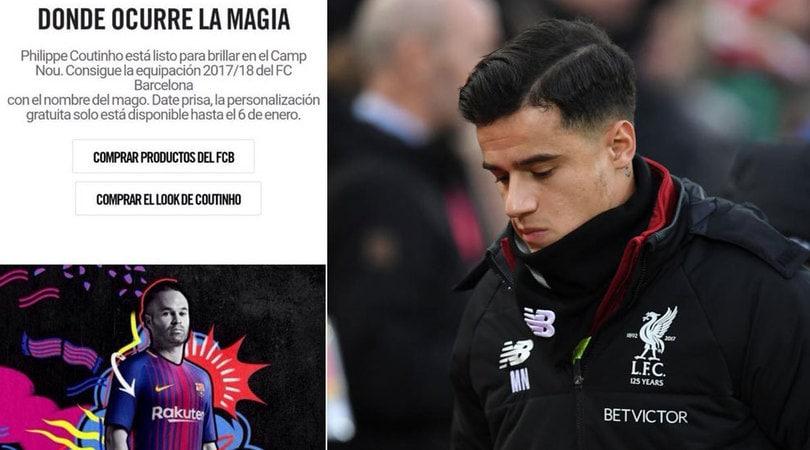 Nike, gaffe o annuncio? «Coutinho al Barcellona»