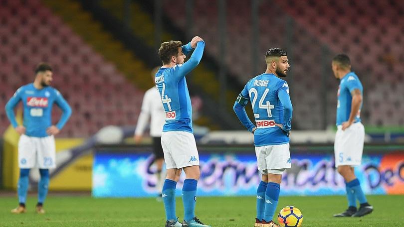 Coppa Italia, Napoli-Atalanta 1-2: Mertens non basta