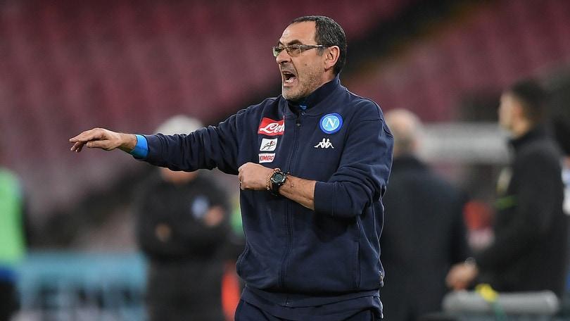 Coppa Italia Napoli, Sarri: «Secondo tempo brutto, con la testa tra le nuvole»