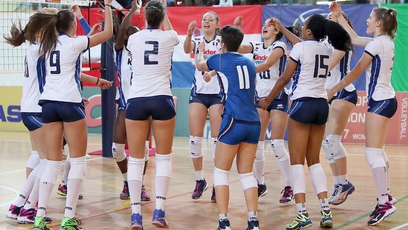 Volley: Qualificazioni Europee, l' U.17 Femminile travolge la Croazia
