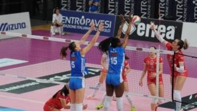 Volley: A2 Femminile, nel posticipo il Club Italia batte Perugia al tie break
