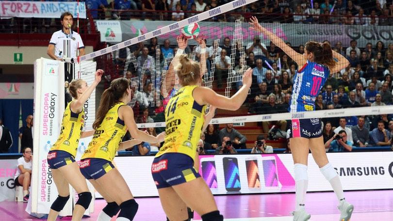 Volley: Champions Femminile, Conegliano con il Prostejov, Novara ad Istanbul