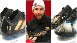 Messi, la sua vita disegnata sugli scarpini donati dal designerLili Cantero