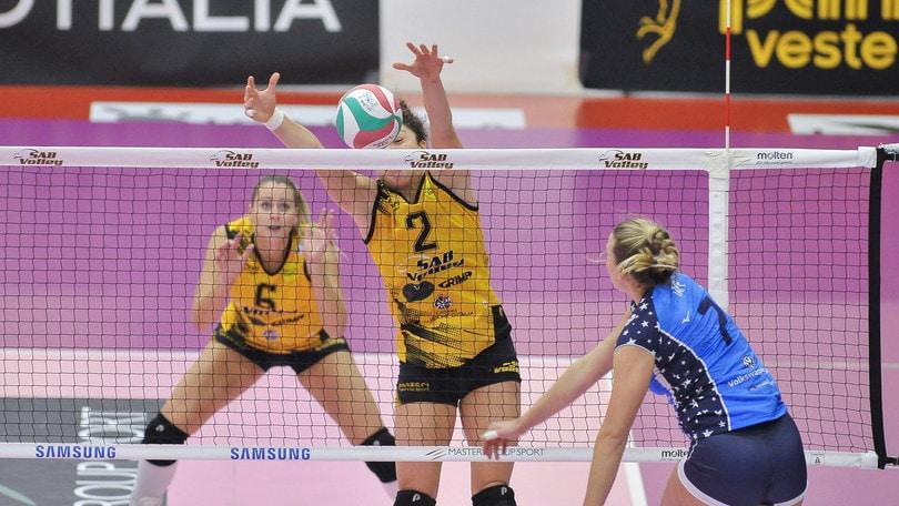 Volley: A1 Femminile, Hannah Tapp sarà operata negli Usa