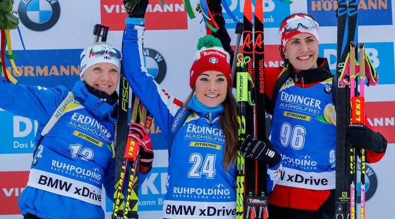 Biathlon, Coppa del Mondo: l'azzurra Wierer vince a Ruhpolding