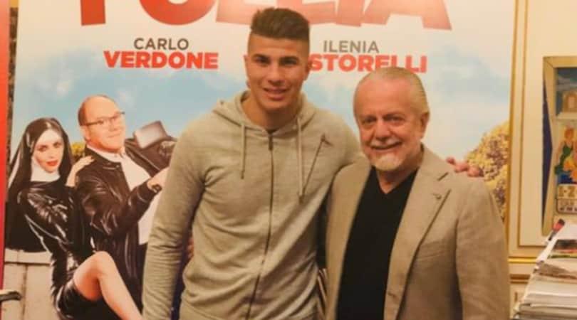 Napoli, De Laurentiis presenta Machach: «Benvenuto»