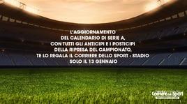 L'aggiornamento del calendario di Serie A oggi gratis in edicola