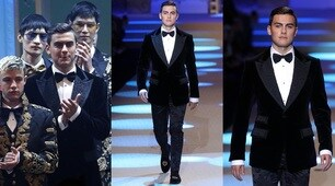 Dybala sfila in smoking per Dolce&Gabbana a Milano