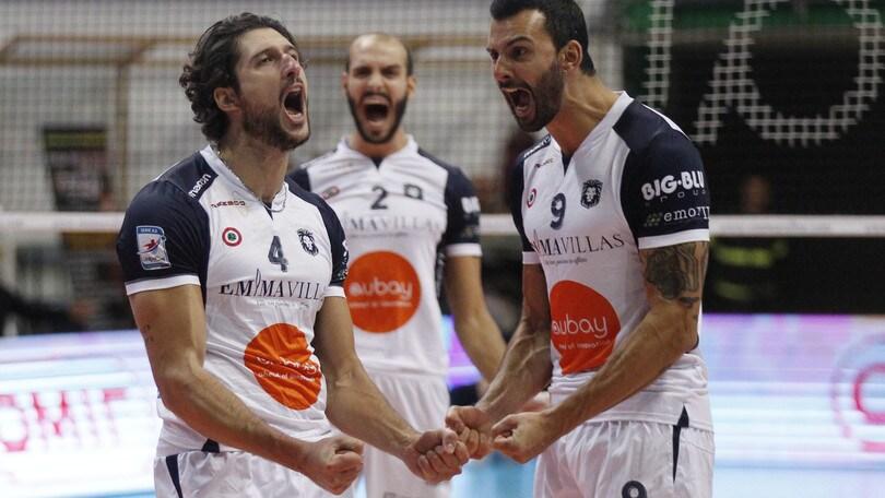 Volley: A2 Maschile, Girone Bianco: Siena corsara Reggio Emilia