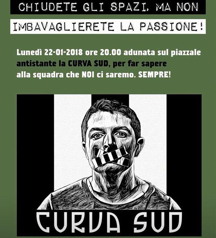 Juventus, chiusura Curva Sud: i tifosi non ci stanno, pronta class action