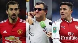 Raiola: «Sanchez al Manchester United? Dipende da Mkhitaryan»
