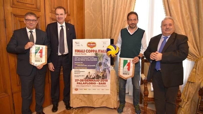 Volley: Coppa Italia, presentata la Final Four di Bari
