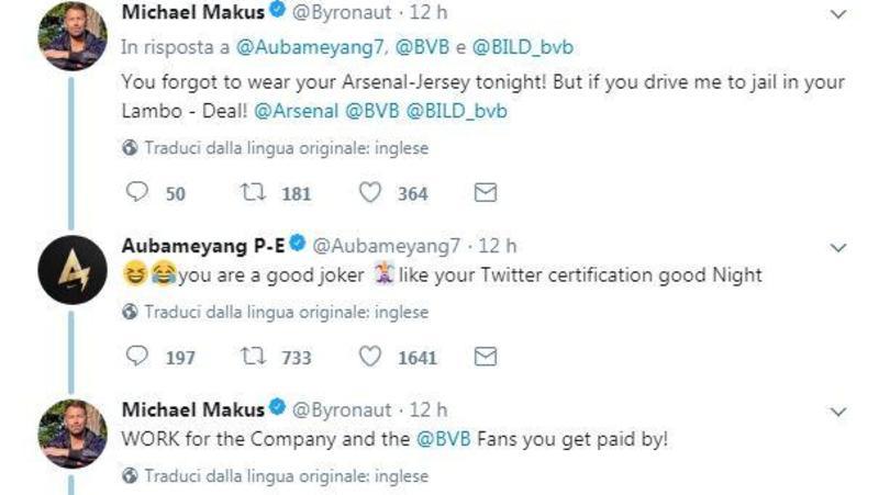 Dortmund, bufera Aubameyang: botta e risposta con un giornalista!