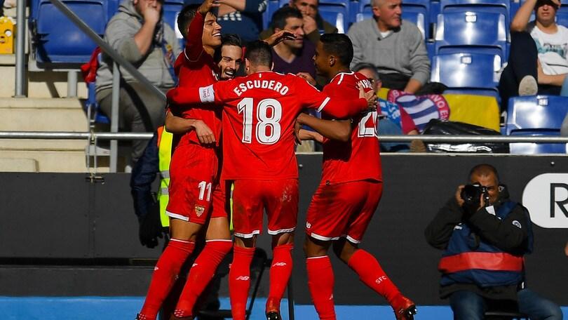 Montella vince ancora: Espanyol-Siviglia 0-3