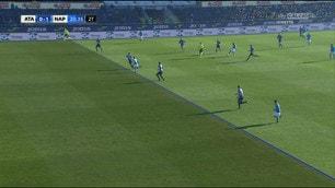 Atalanta-Napoli, la posizione di Mertens sul gol