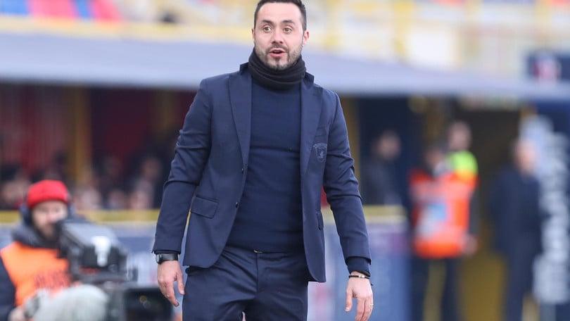 Serie A Benevento, De Zerbi: «Contro la Roma con umiltà»