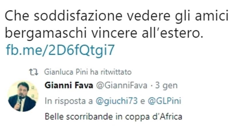 Atalanta-Napoli, tweet di un deputato leghista: «Vittoria in trasferta estera»
