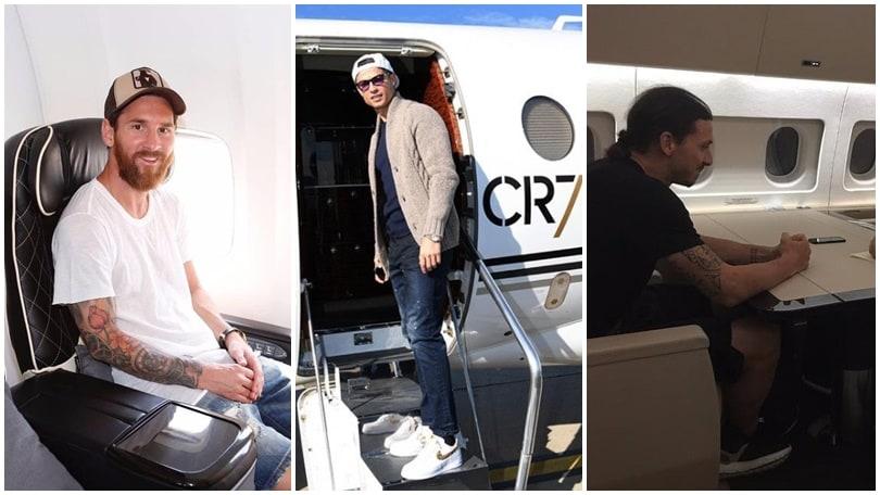Da Messi a CR7, chi ha l'aereo privato più costoso? Ecco la top 10