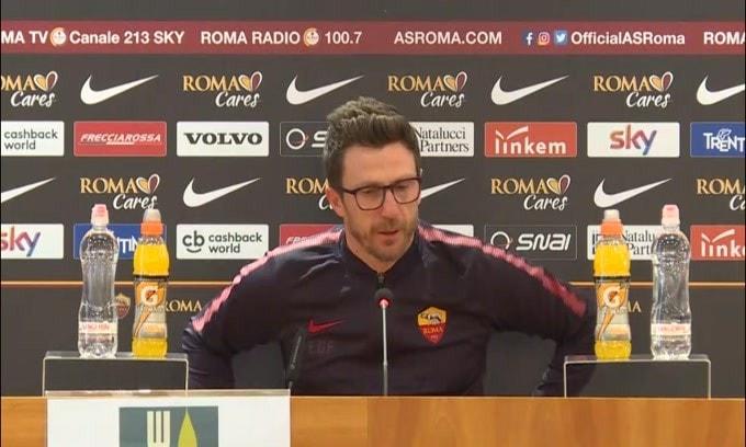"Di Francesco: ""Dzeko? Per me domani giocherà..."""