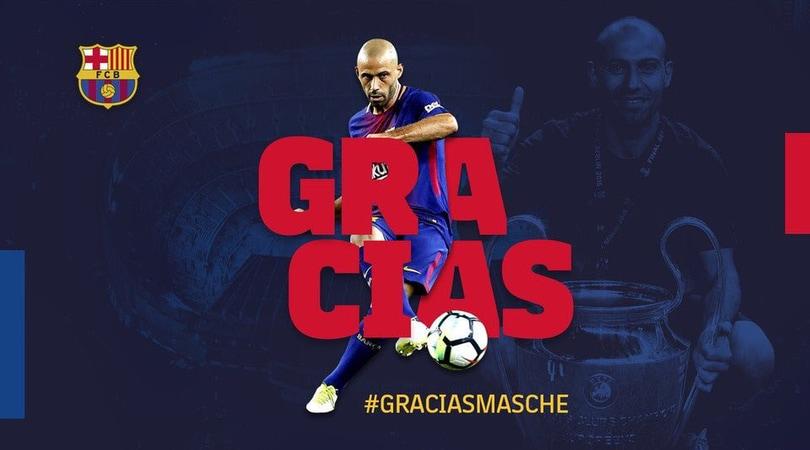 Il Barcellona saluta Mascherano con una cerimonia d'addio