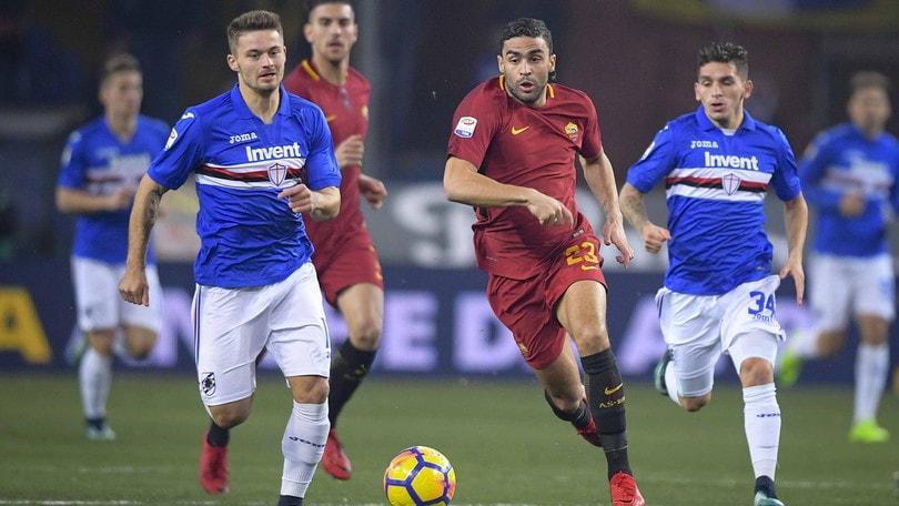 Serie A Sampdoria-Roma 1-1, il tabellino