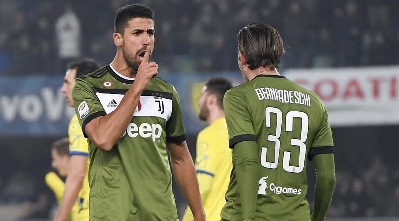 Chievo-Juventus 0-2: Khedira e Higuain scavalcano il Napoli