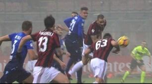 Milan-Lazio, Cutrone segna di braccio ma nessuno se ne accorge