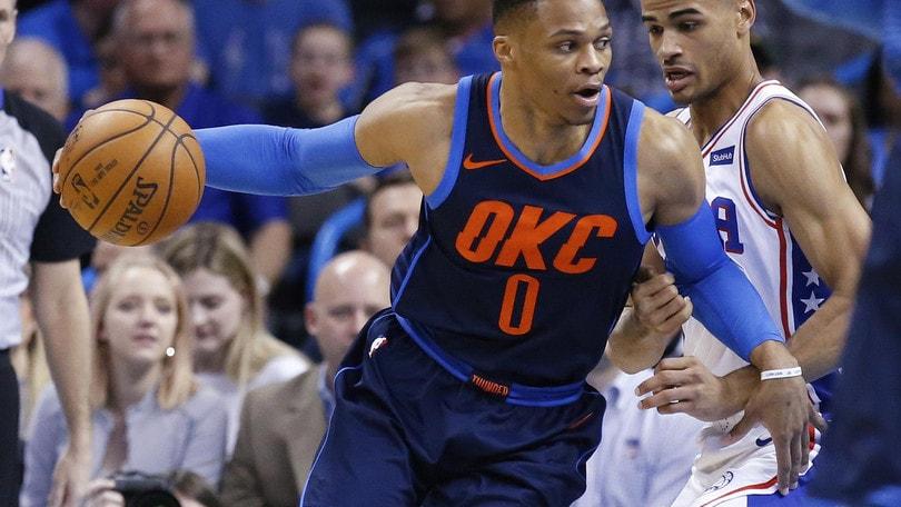Westbrook doma i Sixers, Harden passeggia con Phoenix