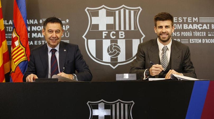 Barcellona, ufficiale: Piqué rinnova con clausola 'monstre'