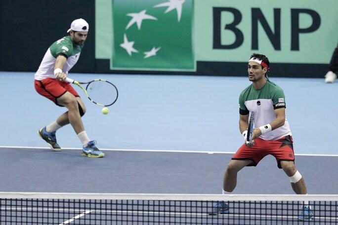 Coppa Davis, Giappone-Italia 1-2: Fognini e Bolelli vincono il doppio