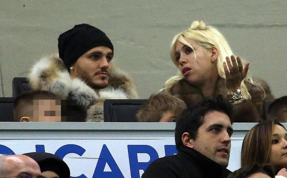 Inter-Crotone: Icardi e Wanda Nara insieme in tribuna