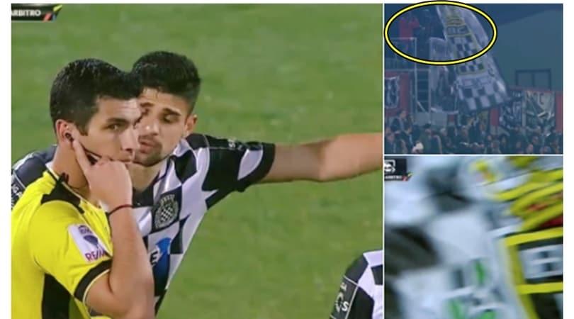 Portogallo, l'arbitro chiede il VAR...ma c'è il bandierone!