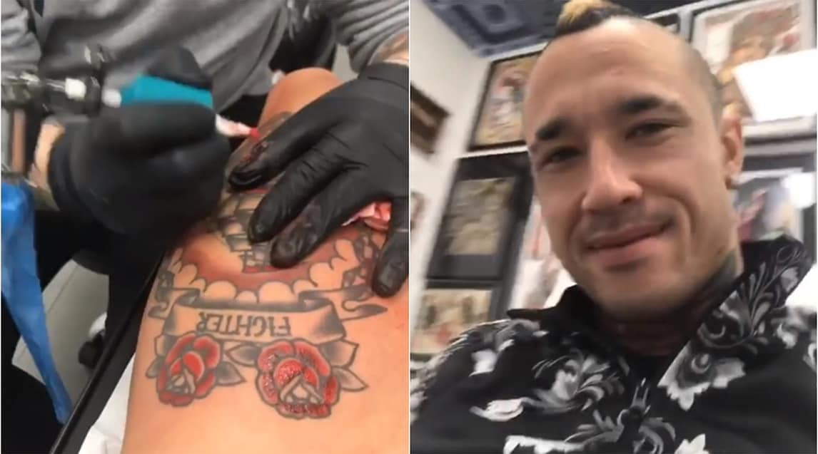 Roma, il tatuaggio di Nainggolan prende colore