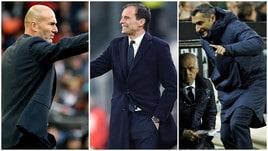 La top 10 degli allenatori migliori d'Europa: ci sono quattro italiani