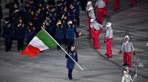 Pyeongchang 2018, la sfilata dell'Italia dietro alla Fontana