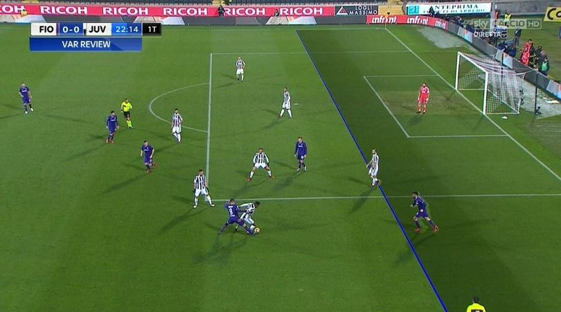 Moviola Fiorentina-Juventus, quanti errori: rigore dato e tolto dopo 4'!