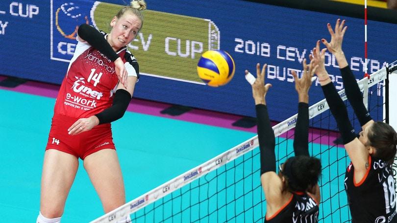 Volley: Cev Cup, Eczacibasi troppo forte, Busto va fuori dalla Coppa