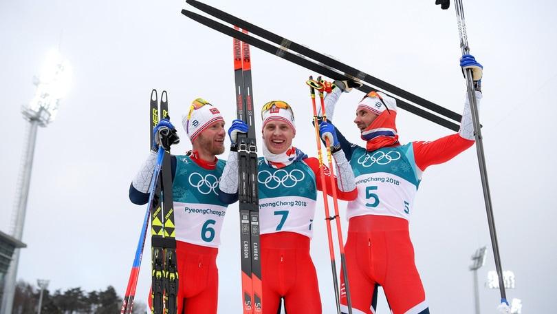 Skiathlon: è tripletta norvegese. Male l'Italia