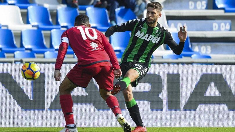 Serie A, Sassuolo-Cagliari 0-0: Berardi spreca, Barella ci prova