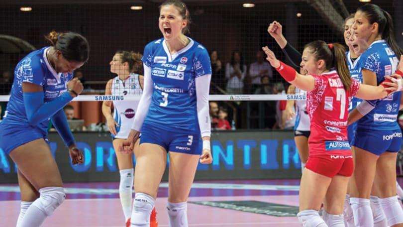 Volley: A1 Femminile, successi per Scandicci, Busto e Bergamo