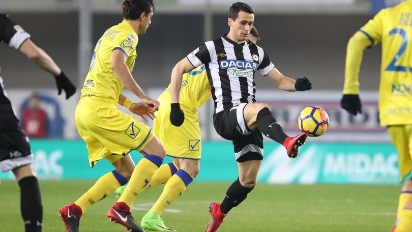 Udinese, lesione al bicipite per Lasagna