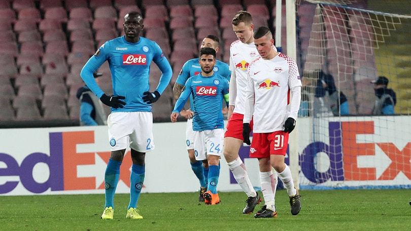 Europa League Napoli-Lipsia 1-3, il tabellino