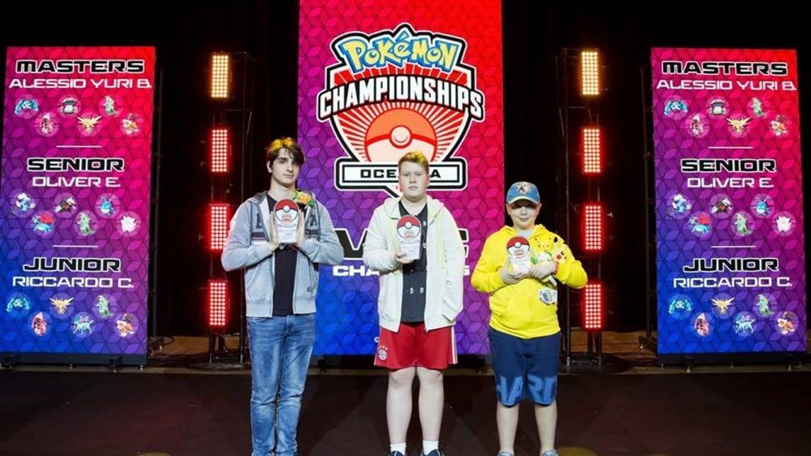 I tre vincitore delle rispettive categorie.