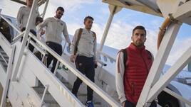 La Roma è atterrata a Trieste: c'è anche Totti