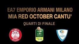 Final Eight Quarti: EA7 Emporio Armani Milano-Mia Red October Cantù