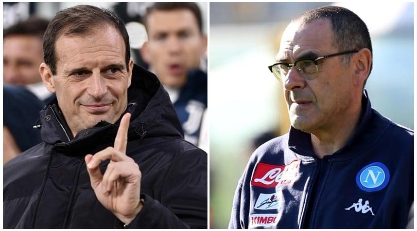Napoli e Juventus, che scintille:Allegri punge, Sarri replica